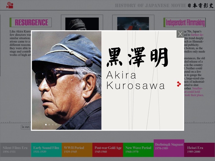 A History of Japanese Cinema -An Interactive Timeline