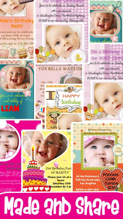 Birthday Invitation Cards screenshot-4