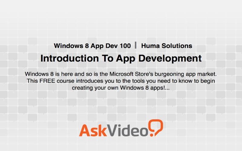 AV for Windows 8 App Dev - Introduction To App Dev скриншот программы 1