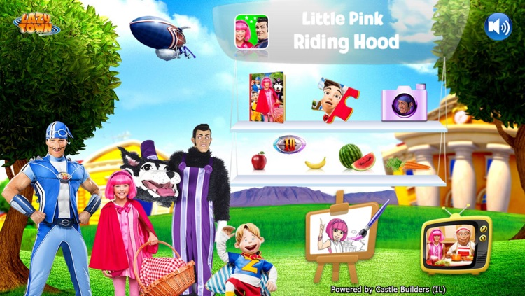 LazyTown's Adventures Deluxe – Little Pink Riding Hood Video Storybook with Narration, Puzzle Games, Coloring Pages, Photo-Booth, Music Videos, Training Videos and Cooking Recipes