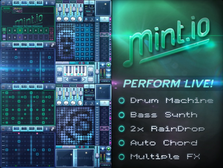 MINT.io Groovebox Synth - Make House, Dubstep, Techno, Breakbeat