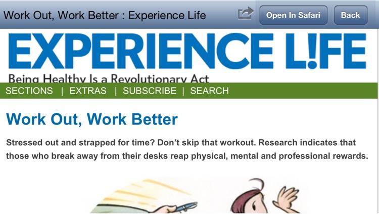 """101 Revolutionary Ways to Be Healthy"" from Experience Life magazine and RevolutionaryAct.com screenshot-4"