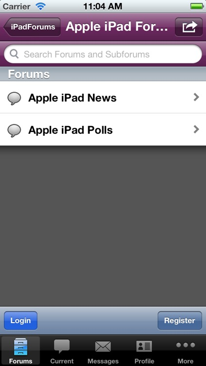 Discussion Forum for iPad Users