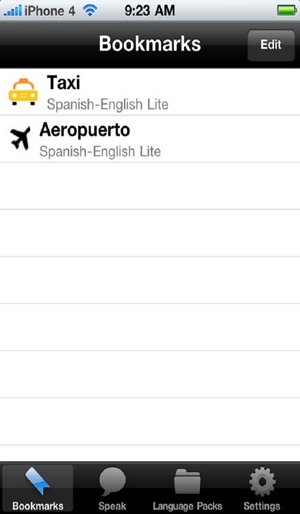 Spanish to English Voice Talking Translator Phrasebook EchoMobi Travel Speak LITE screenshot-3