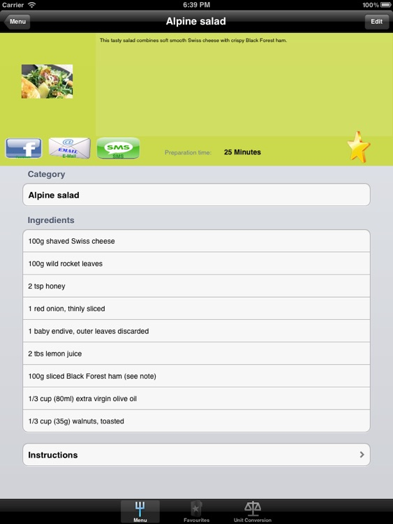 Side Dish Recipes Designed for iPad