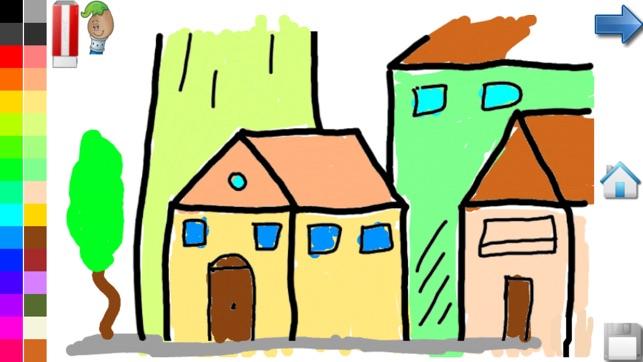 Disegni da colorare casa e il castello libro da for Piccoli piani casa castello