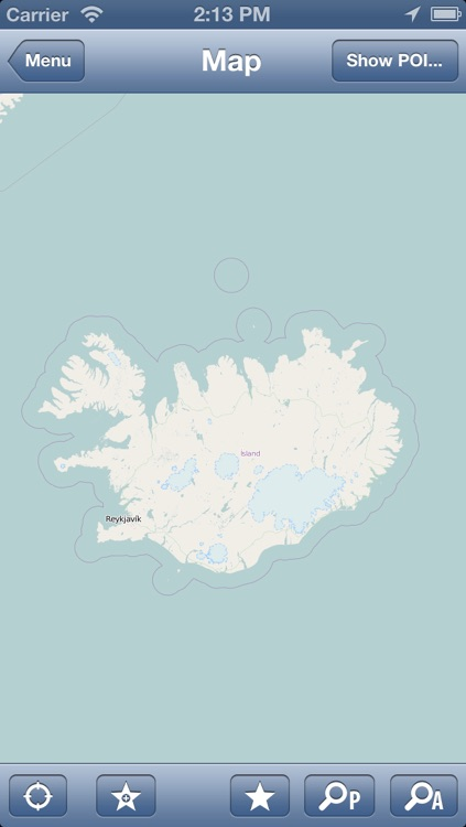 Iceland Offline Map - PLACE STARS screenshot-1
