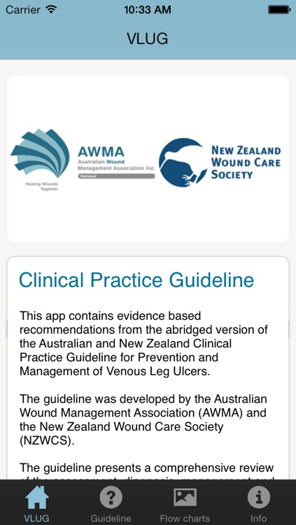 VLU Clinical practice guidelines