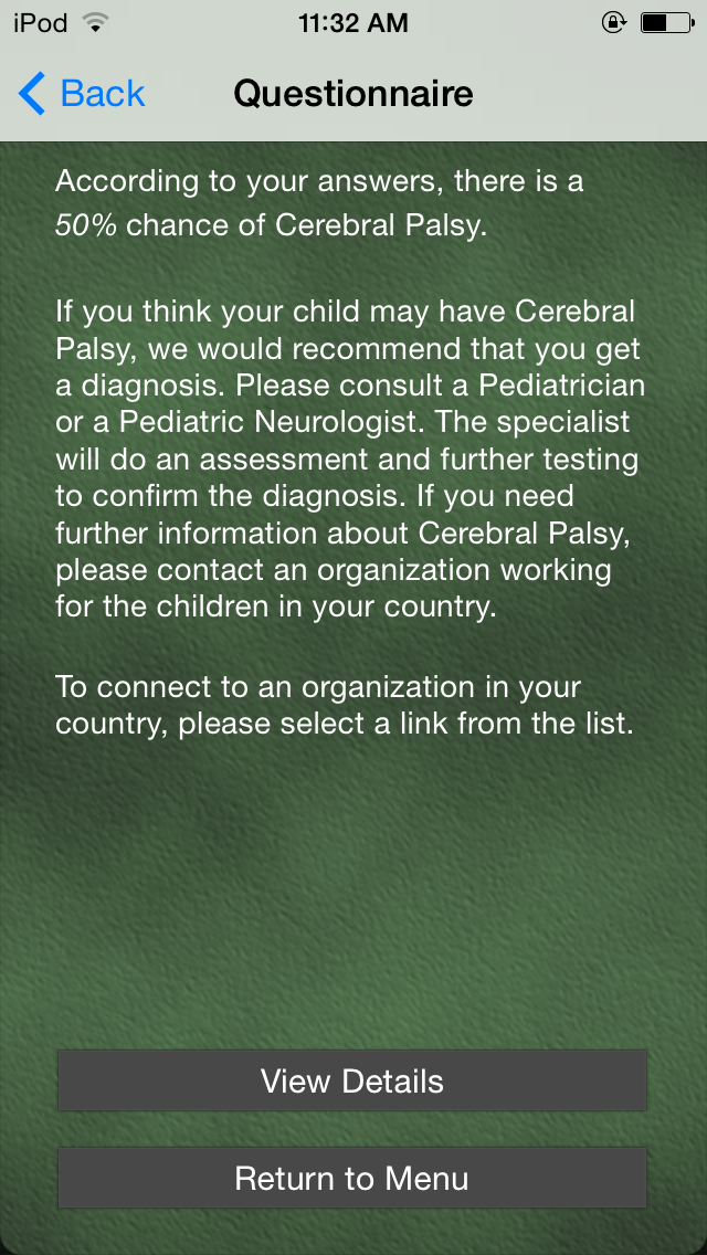 Cerebral Palsy screenshot three
