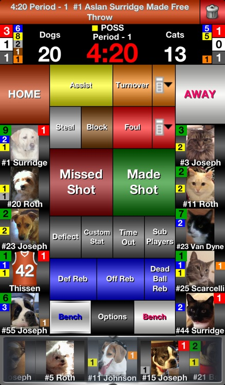 iTouchStats Basketball screenshot-1