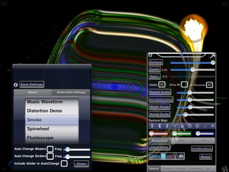 iBeams HD - Art Light Show and Music Visualizer screenshot-3