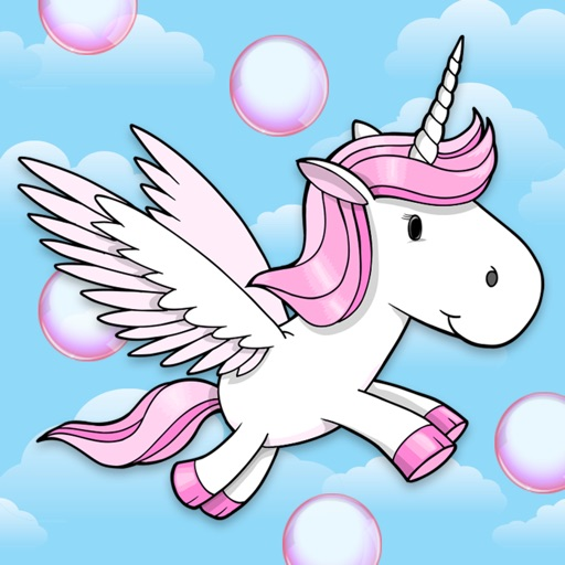 A Bubble Adventure: Flying Unicorn Dash icon