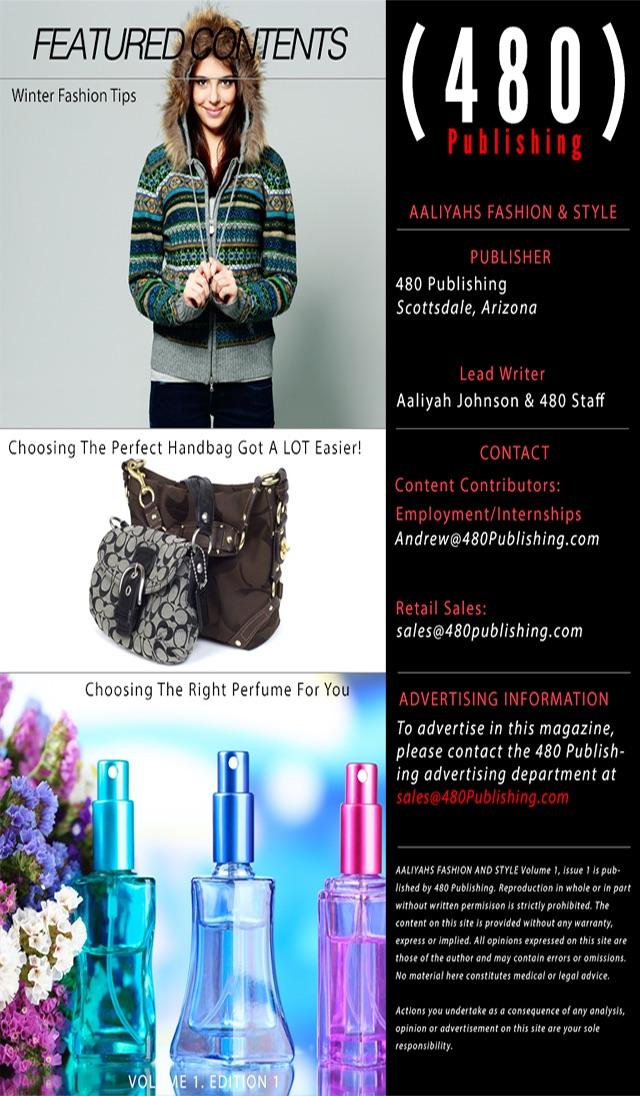 Aaliyahs Fashion and Style Magazine Screenshot