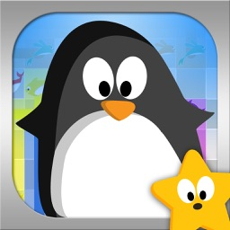 Penguin Match: Rollo and Friends Connect the Fish Puzzle Challenge