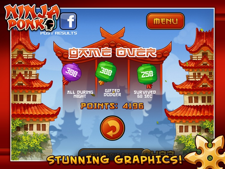 Ninja Ponk HD screenshot-3