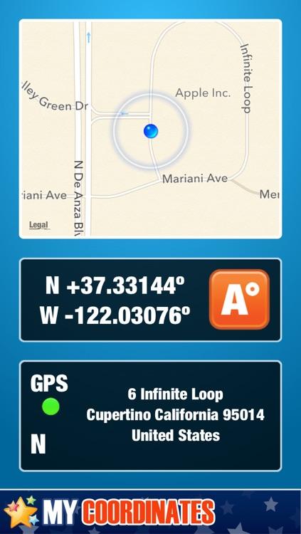 My Coordinates. GPS Location