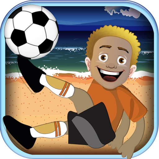 A flick soccer games challenge - be the ultimate beach football goal keeper