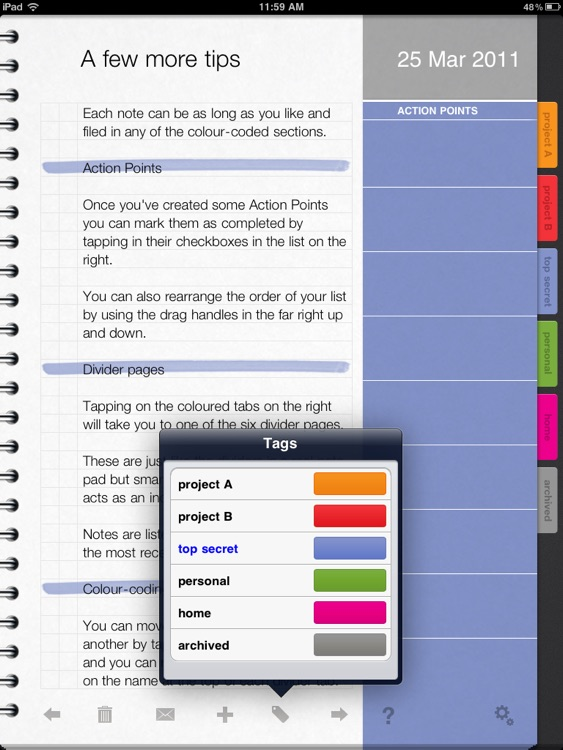 ActionNotes screenshot-1