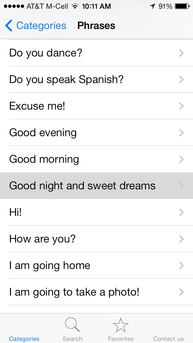 English To Spanish Translation Phrasebook review screenshots