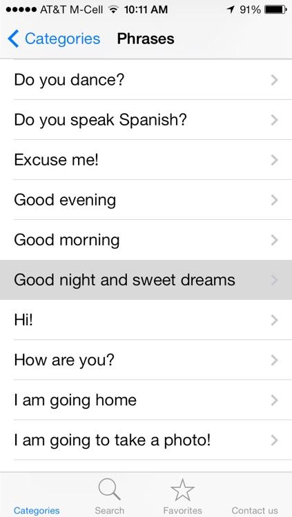 English to Spanish Translation Phrasebook