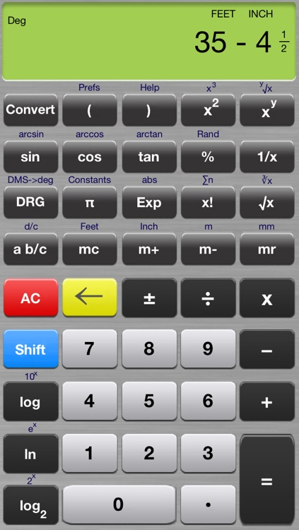 Scientific Calculator Elite - Advanced Fraction Calculator designed for Math and Science Students - Calc includes Unit Conversion, Constants, Fractions, Trigonometry, and Algebra Functions