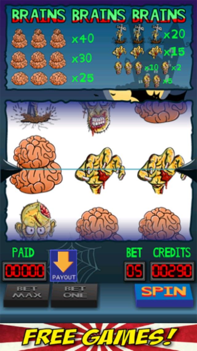 Brains Brains Brains Zombie Casino Slot Machine-1