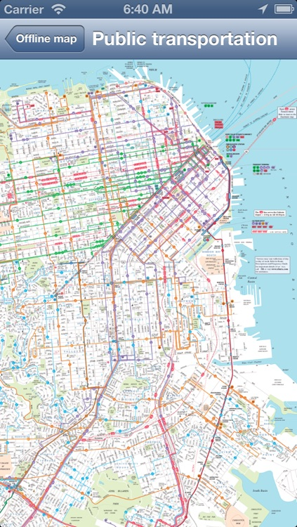 San Francisco Offline Map + Public Transportation map
