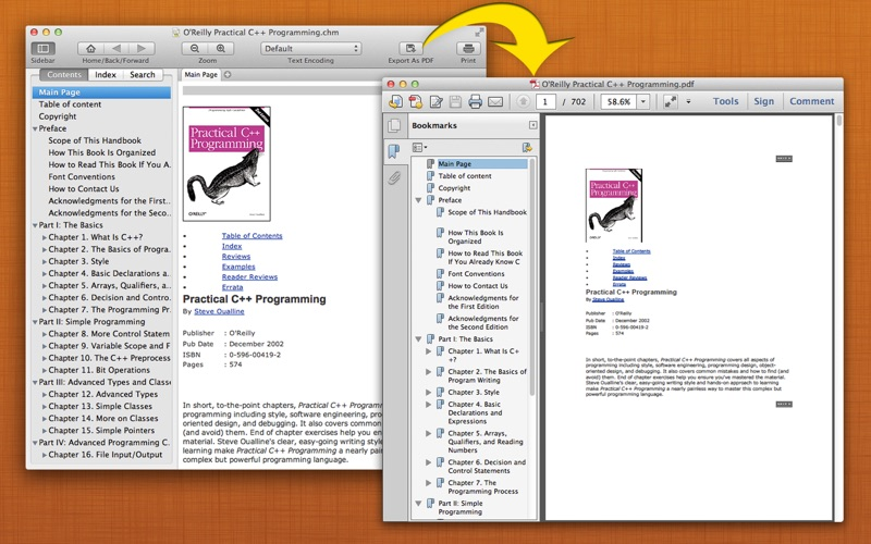 Read CHM+ : The CHM Reader + Export to PDF скриншот программы 3