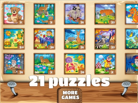 Amusing Kids Puzzles - cute scenes for kids, toddlers and families-ipad-4