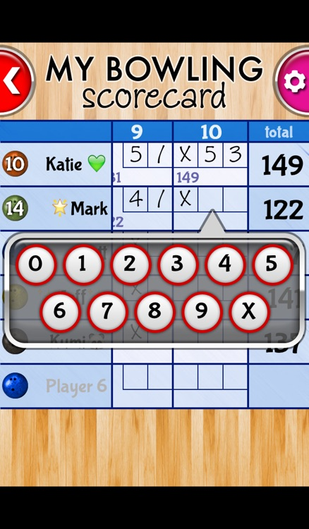 My Bowling Scorecard screenshot-2