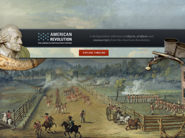 ‎American Revolution Interactive Timeline for iPad Screenshot