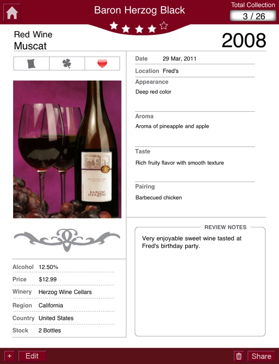 Wine Journal+ Professional Wine Log for Wine En... screenshot-3