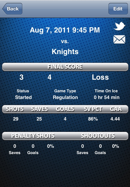 Goalie Stats screenshot-3