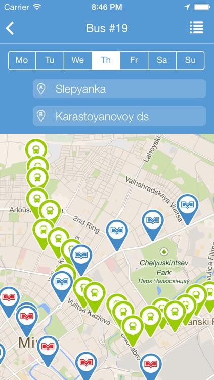 MinskRoutes: Free Minsk Public Transport Transit, Routes & Schedule screenshot-3