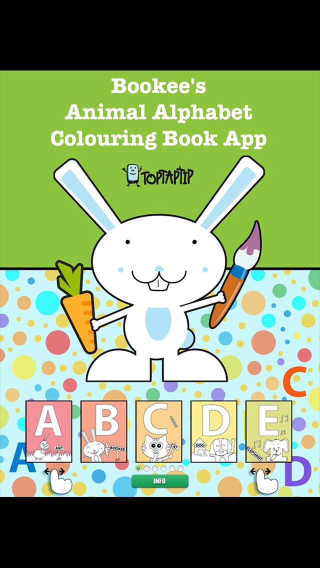 Bookee's Animal Alphabet Colouring Book screenshot one