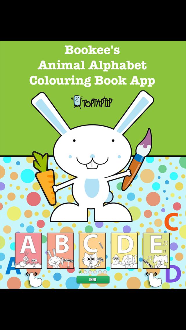 Bookee's Animal Alphabet Colouring Book