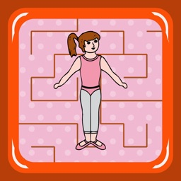 Ballerina Dancer Maze (find the shoes)
