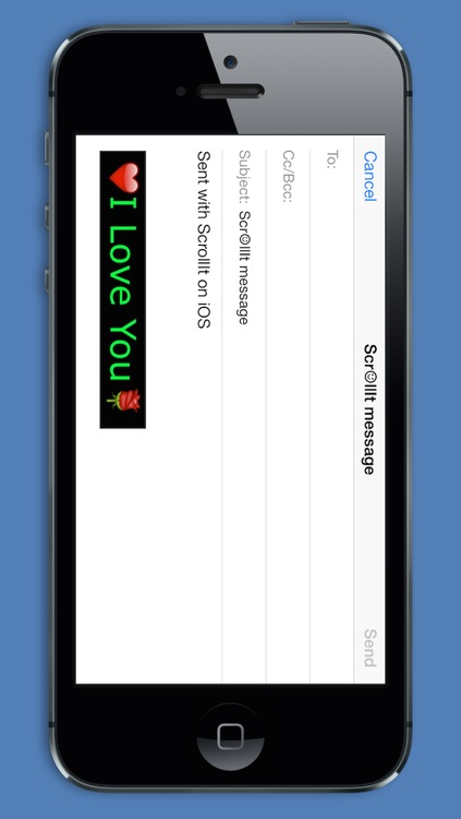 ScrollIt 2X: display scrolling messages screenshot-3