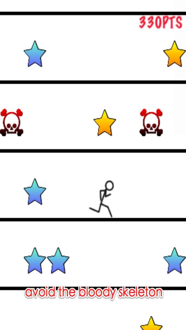 mutig stickman - springen und in regen laufen kostenlosScreenshot von 4