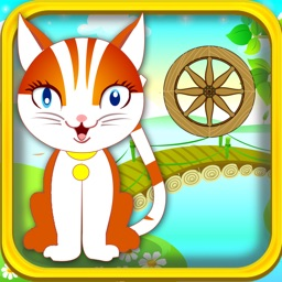 A Cute Kitten Jump Adventure Game: Blast Kitty from Cannon to Spinning Wheels
