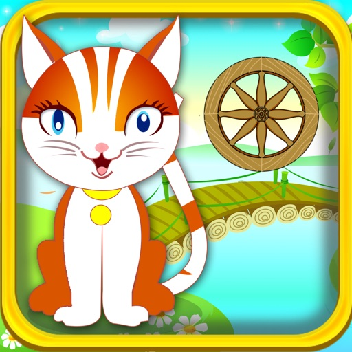 A Cute Kitten Jump Adventure Game: Blast Kitty from Cannon to Spinning Wheels Icon