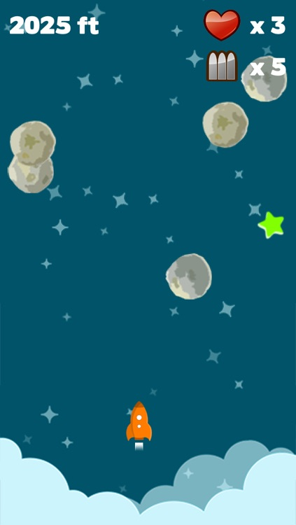 Astro Rocket Saga - Asteroids diving survival game screenshot-3
