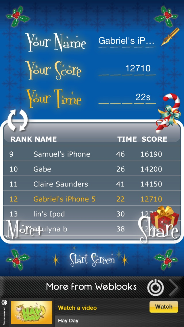 The Candy Cane Game! app image