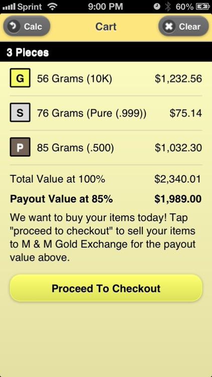 Gold Calc: Precious Metals Calculator screenshot-3