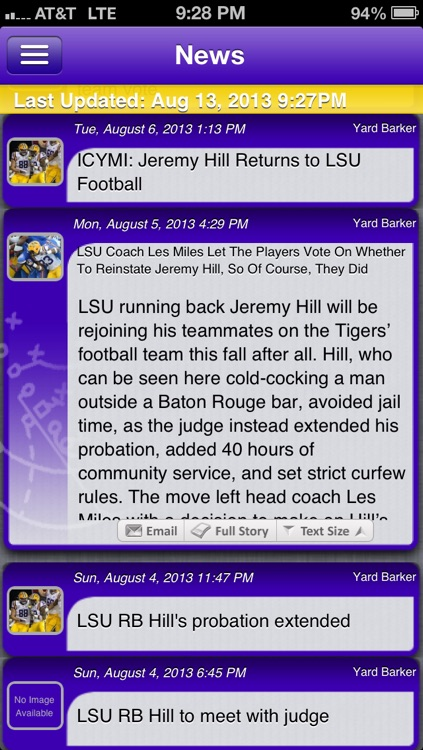 LSU Football Live screenshot-0