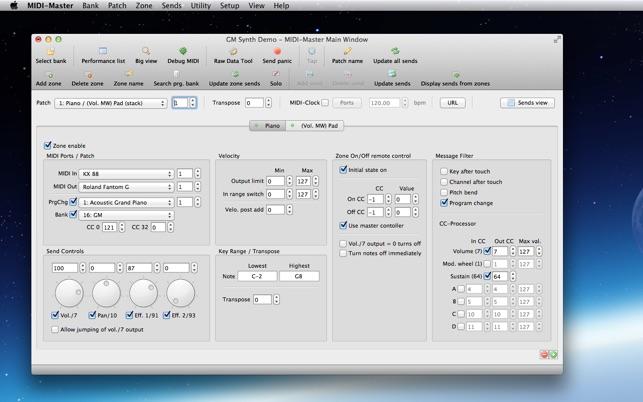 MIDI-Master - Master Keyboard Software
