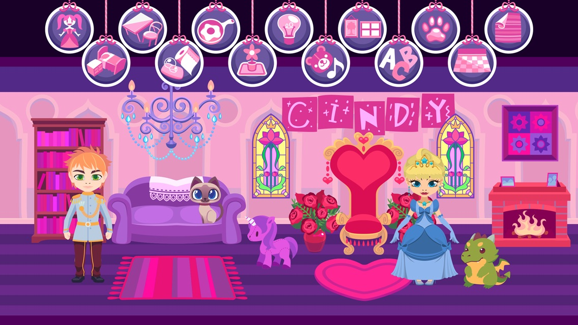 My Princess Castle - Fantasy Doll House Maker Game for Kids and Girls Screenshot
