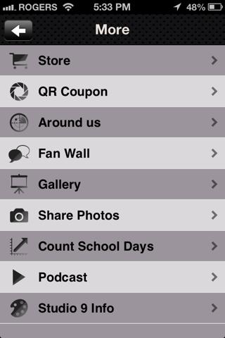 Studio 9 App screenshot four