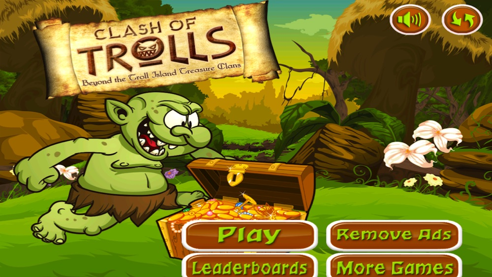 Clash of Trolls Beyond The Troll Island Treasure Clans Find More Gold if You Can Cheat Codes