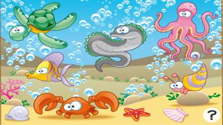 Screenshot of Gioco per bambini di età 2-5 sugli animali dell'oceano: giochi e puzzle per la scuola materna, scuola materna o asilo nido con il mare, l'acqua, i pesci, tartarughe, anguille e granchi1